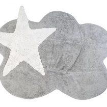 Aratextil alfombra lavable Mimosa gris