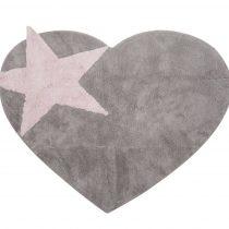 Aratextil alfombra lavable Peace gris rosa