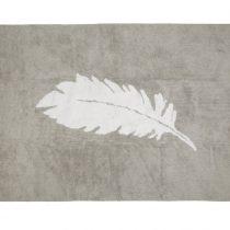 Aratextil alfombra lavable Pluma gris blanco