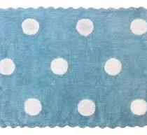 Aratextil alfombra lavable Topos Celeste