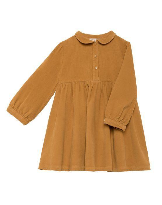 BabyClic Vestido micropana mostaza