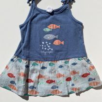 Cotton Fish vestido peces azul