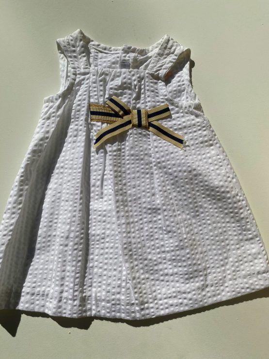 Sulfy vestido blanco lazo