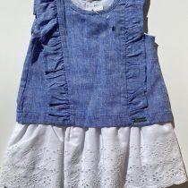 Sulfy vestido lino azul