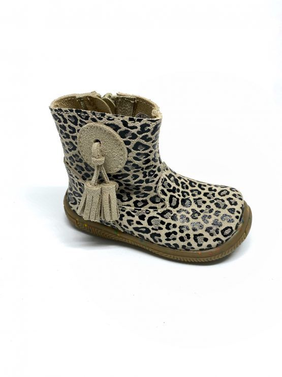 Puchitos botin leopardo crudo